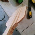 step planed paddle blade