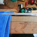 padding the blade for clamping